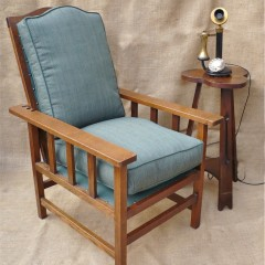Arts and crafts armchair with adjustable back