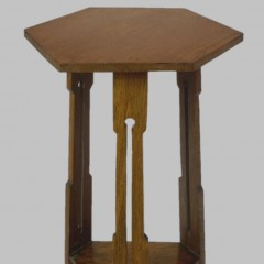Simple arts and crafts side table in oak
