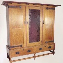 Ambrose Heal 3 door Newlyn wardrobe in oak