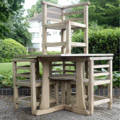 Heals design teak garden table & chairs