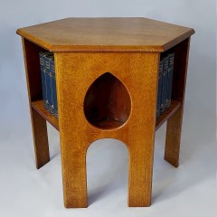 Liberty bookcase table in golden oak
