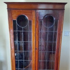Classic arts and crafts glazed bookcase