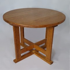 Heals circular occasional table in oak