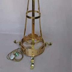 Arts and crafts floor lamp in polished brass