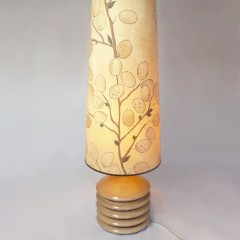 Tall Mid Century table/floor lamp , ceramic base .