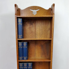 Arts and crafts bookcase , bird in flight