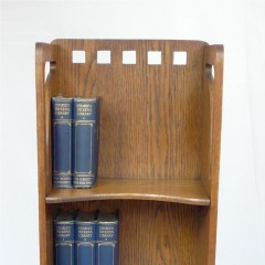 Scottish School bookcase in golden oak