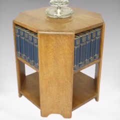 Heal & Son bookcase table in pale oak
