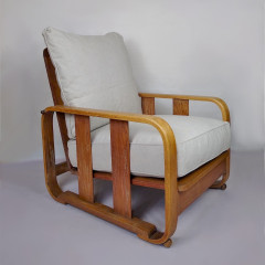 1930's Heals limed oak armchair