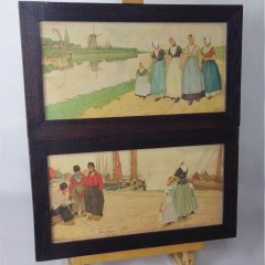 Pair of arts and crafts prints , Dutch scenes