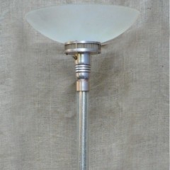 Classic art deco uplighter with glass rod column