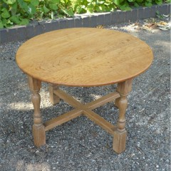 Limed oak coffee table in the Heals style