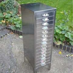 Polished steel filing cabinet by STOR
