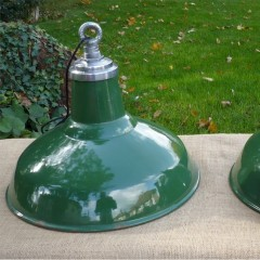 Pair of Large SunCo industrial lights
