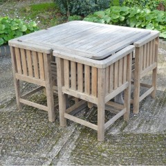 Garden set , table , 4 chairs in teak
