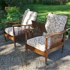 Pair of Shapland & Petter armchairs in oak