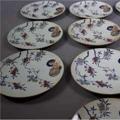 Aesthetic Movement set of dinner plates.