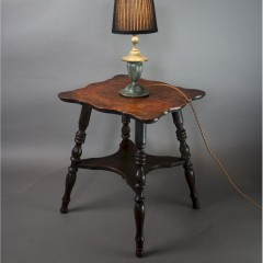 Small antique oak lamp table. c1890