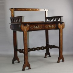Art Nouveau profusely inlaid Ladies writing desk attributed to Shapland and Petter