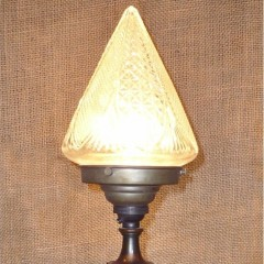 Arts and crafts period table lamp in copper