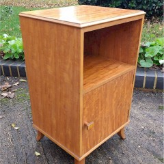 Heal & Son Mid Century bedside cabinet in Peroba wood