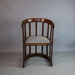 Arts and crafts Glasgow School barrell chair
