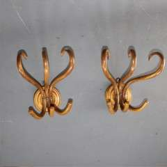 Pair of bentwood wall mounted hat racks