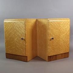 Birds-Eye Maple pair of Art Deco bedside cabinets