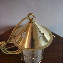 Arts and Crafts brass lantern polished