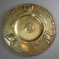 Arts and Crafts Glasgow School brass charger