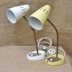 Near pair of 60's bendy table / wall lights