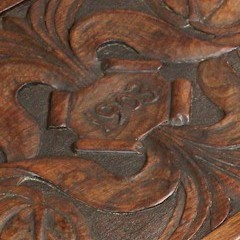 Arts and Crafts carved table dated 1903