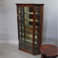 Victorian mahogany chemist shop display cabinet