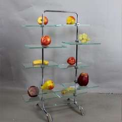 1930's chrome and glass shop display stand