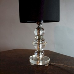 French chystal table lamp