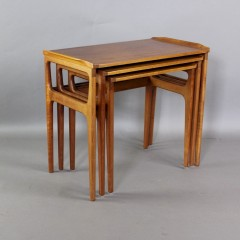 Mid-Century Danish teak nest of three tables by Heltborg Mobler