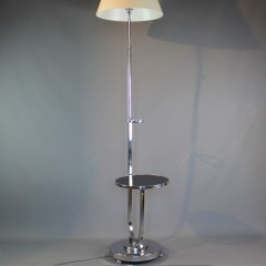 Art Deco chrome floor lamp