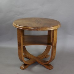 Art Deco walnut table on