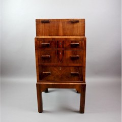 Art deco sewing / bedside cabinet