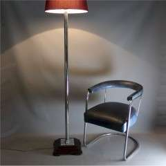 Good quality Art Deco chrome floor lamp