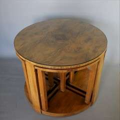 Art Deco nest of five Quintetto tables