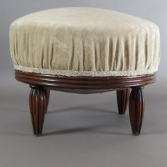 French Art Deco stool on mahogany legs c1920's