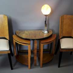 Art Deco Demi - Lune Nest of tables