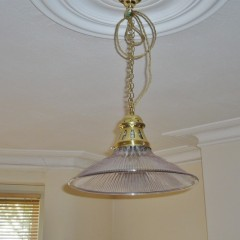 Set of 3 Holophane ceiling lights