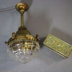 Quality brass and cut glass ceiling light