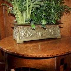 Glasgow School arts and crafts brass planter