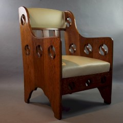 Classic arts and crafts armchair by Goodyers c1900
