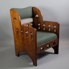 Arts and Crafts oak armchair by Goodyers
