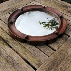 Heals oak framed convex mirror