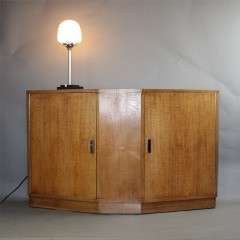 Heals limed oak sideboard c1930's with canted ends